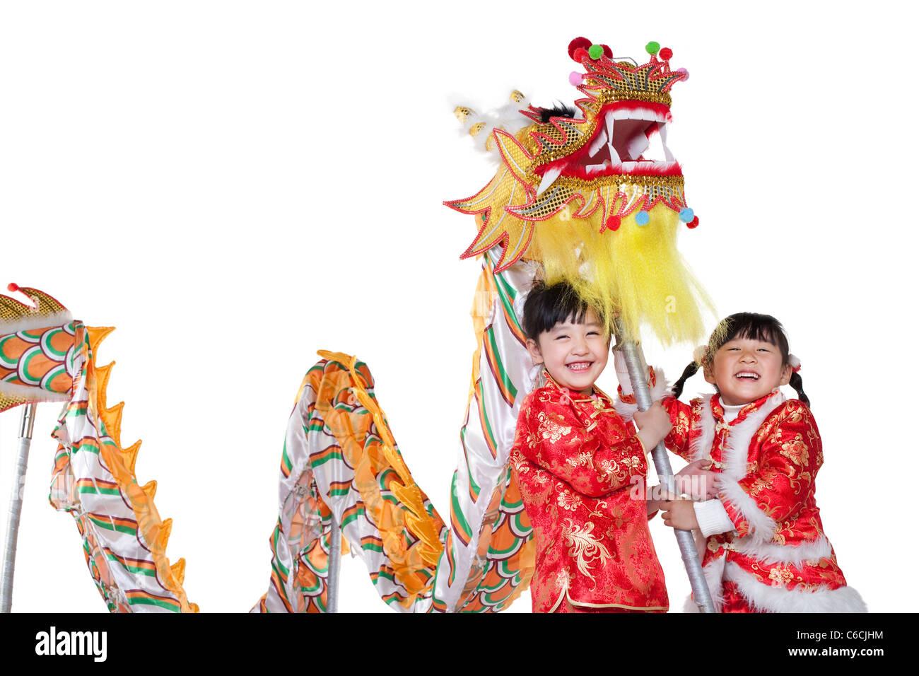 Chinese Dragon Children Stock Photos & Chinese Dragon Children Stock ...