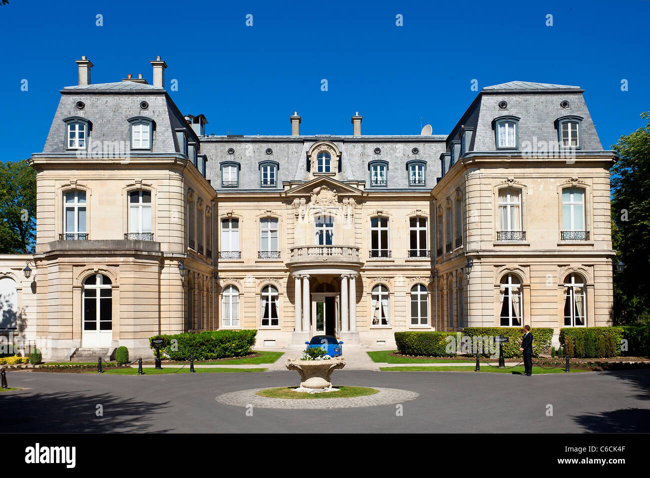 France, Marne, Reims, Chateau les Crayeres Restaurant Stock Photo