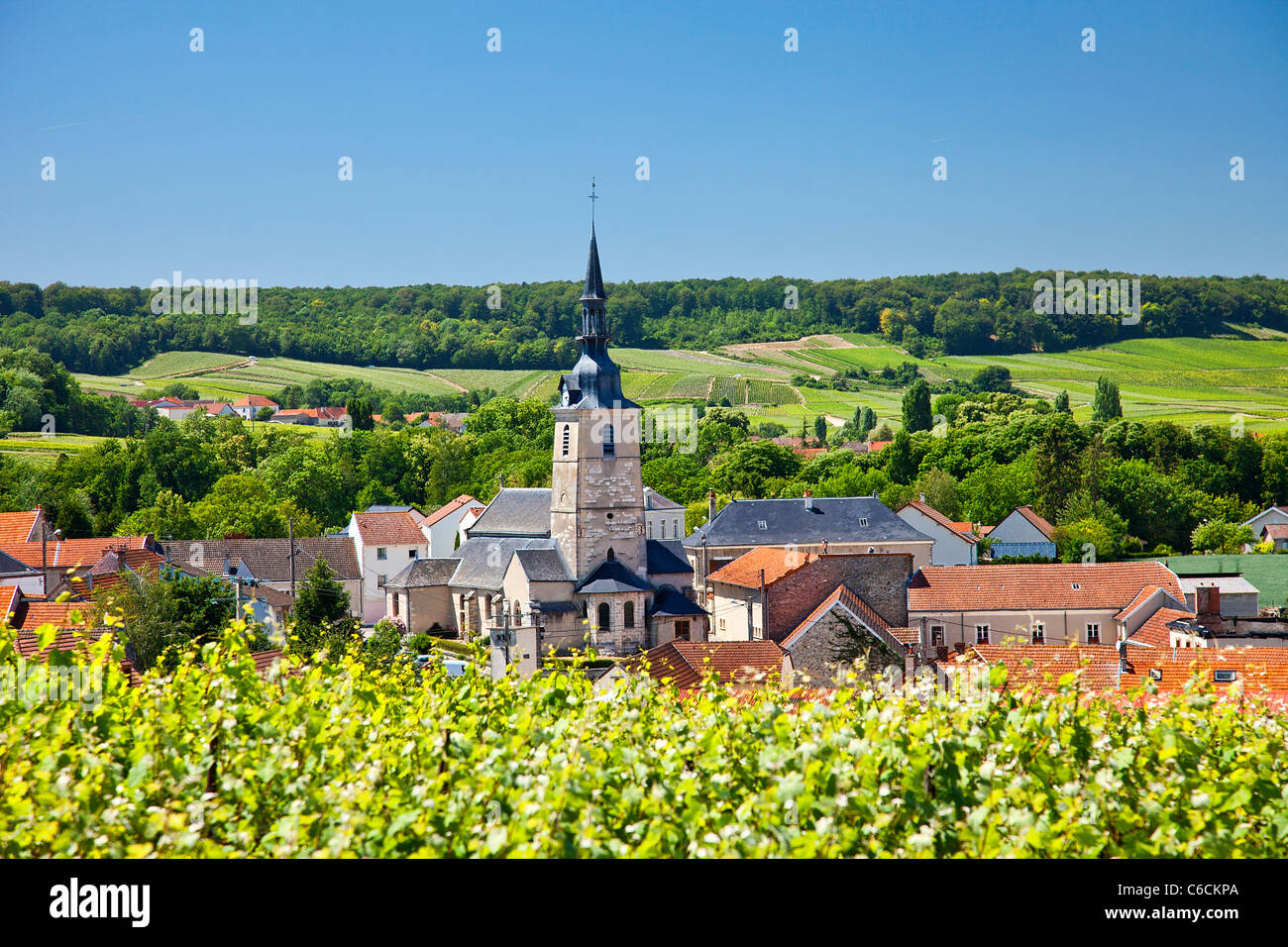 France, Marne, Sermiers, a village close to Reims associated with Champagne wine Stock Photo