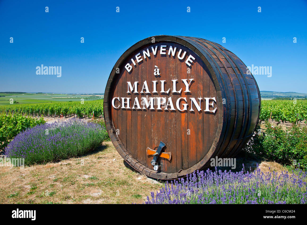 France, Marne, Mailly Champagne, a village close to Reims associated with Champagne wine - Stock Image