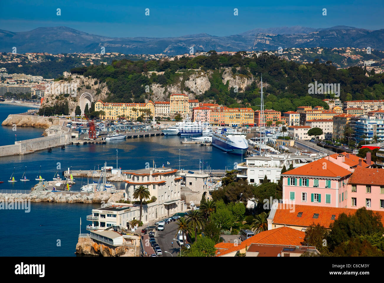 Europe, France, Nice harbor - Stock Image