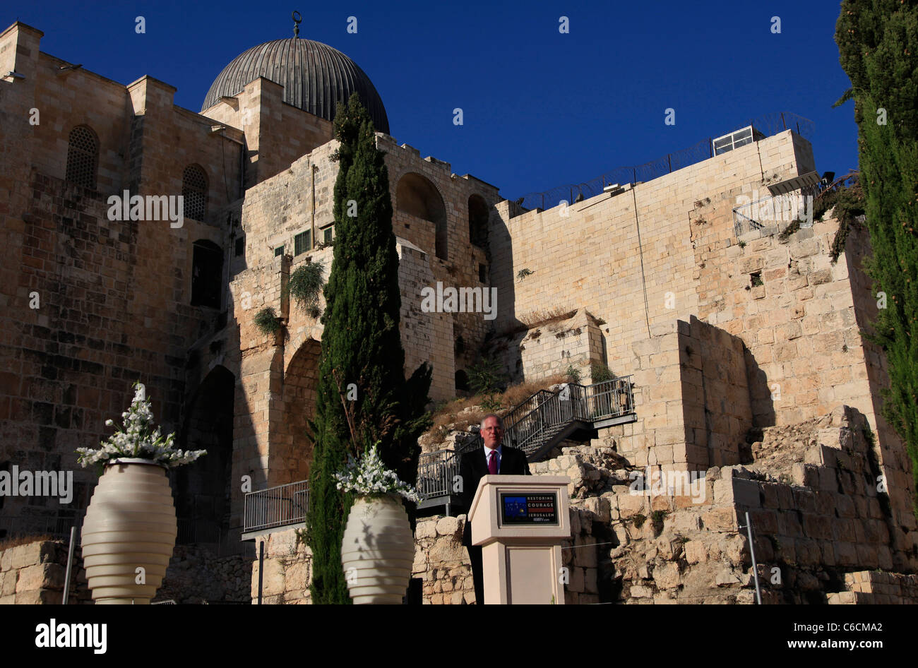US radio personality Glenn Beck hosts rally supporting Israel in the Old city of  Jerusalem Israel - Stock Image