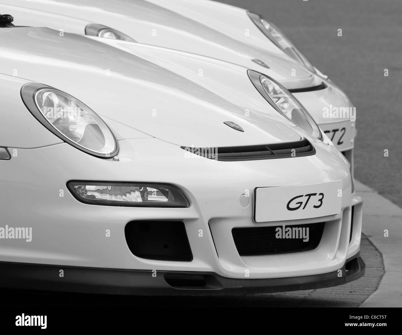 Porsche display - Stock Image
