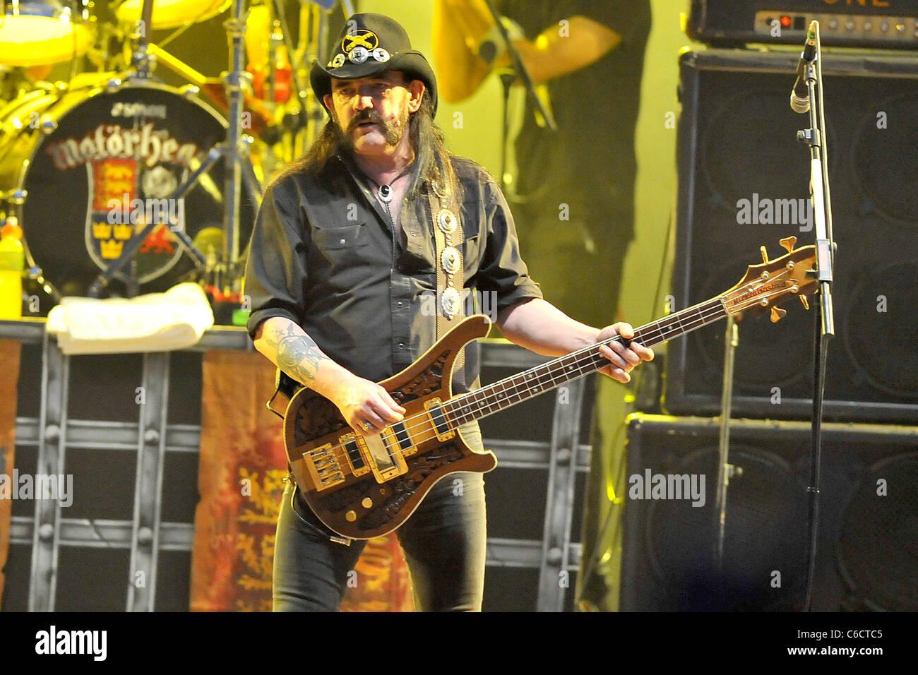 Lemmy Kilmister British rock band Motorhead performing live