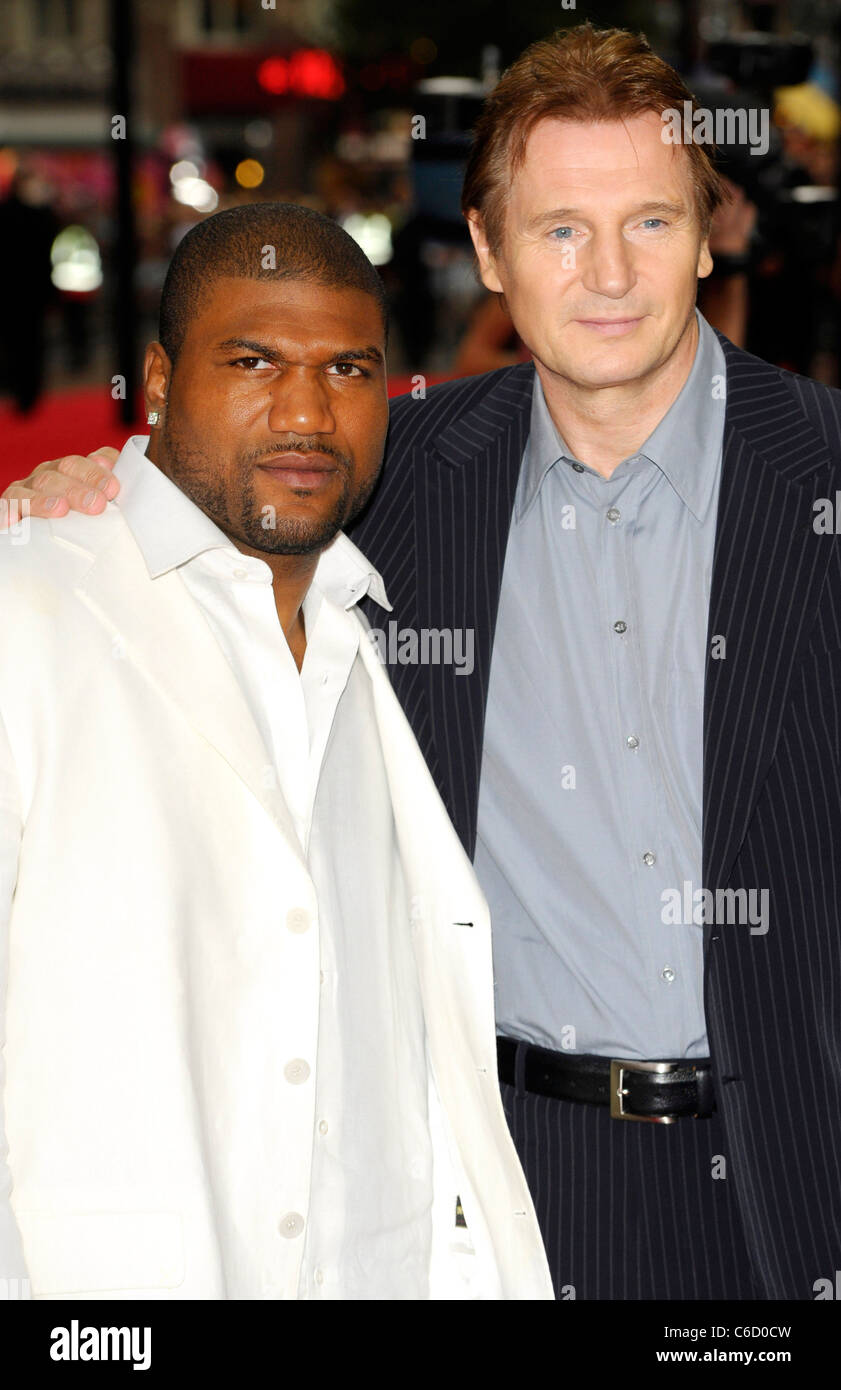Quinton Rampage Jackson And Liam Neeson Uk Film Premiere Of The A Stock Photo Alamy