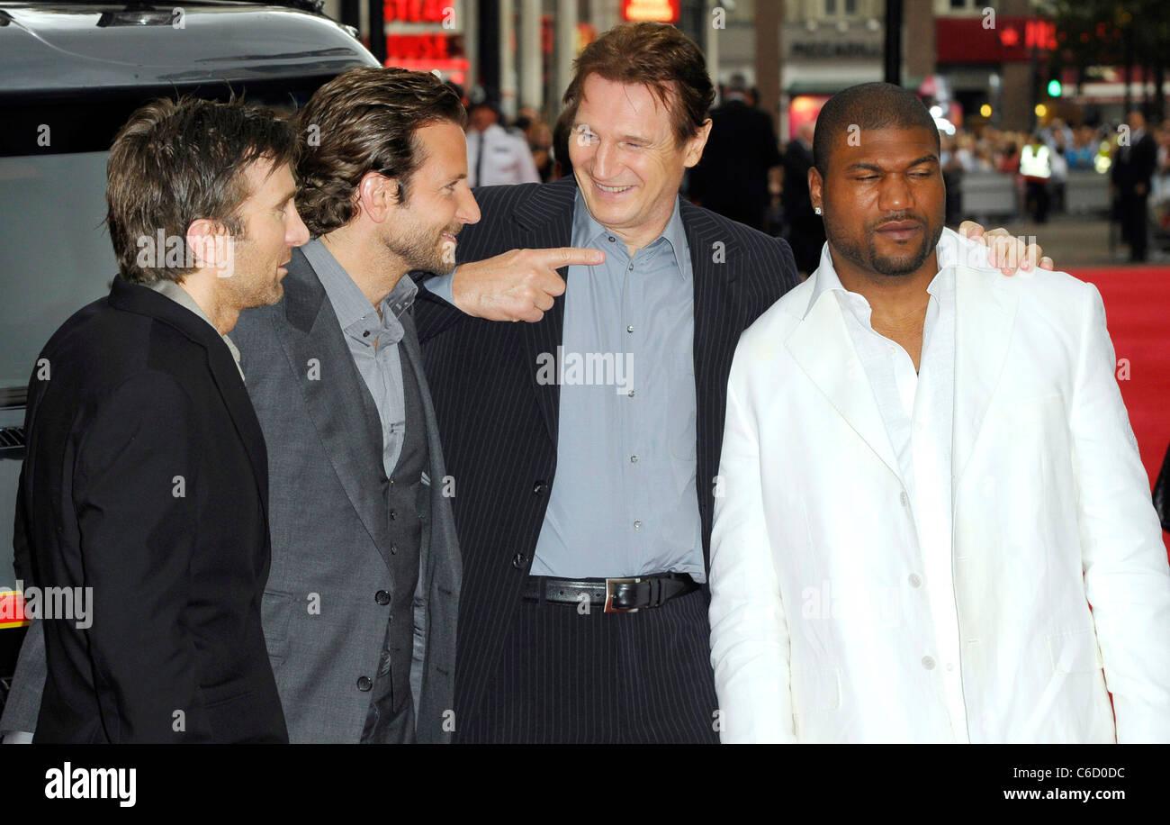 Sharlto Copley Bradley Cooper Liam Neeson And Quinton Rampage Stock Photo Alamy