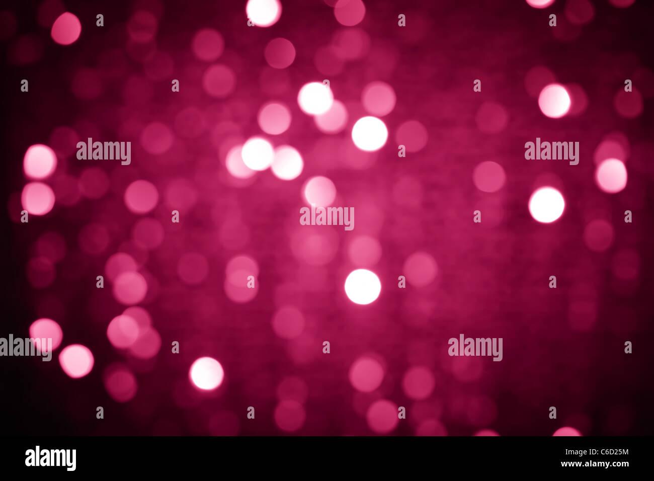 Glitter of christmas lighting background - Stock Image