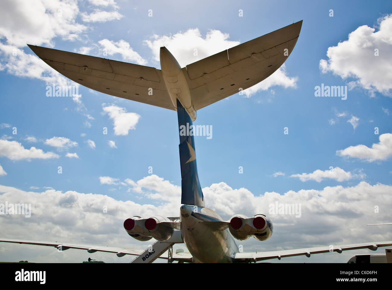 Tail of a BOAC VC10 airoplane - Stock Image