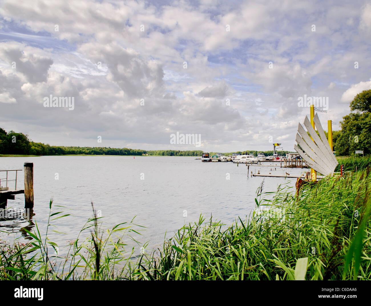See in Rheinsberg, Lake at Rheinsberg - Stock Image