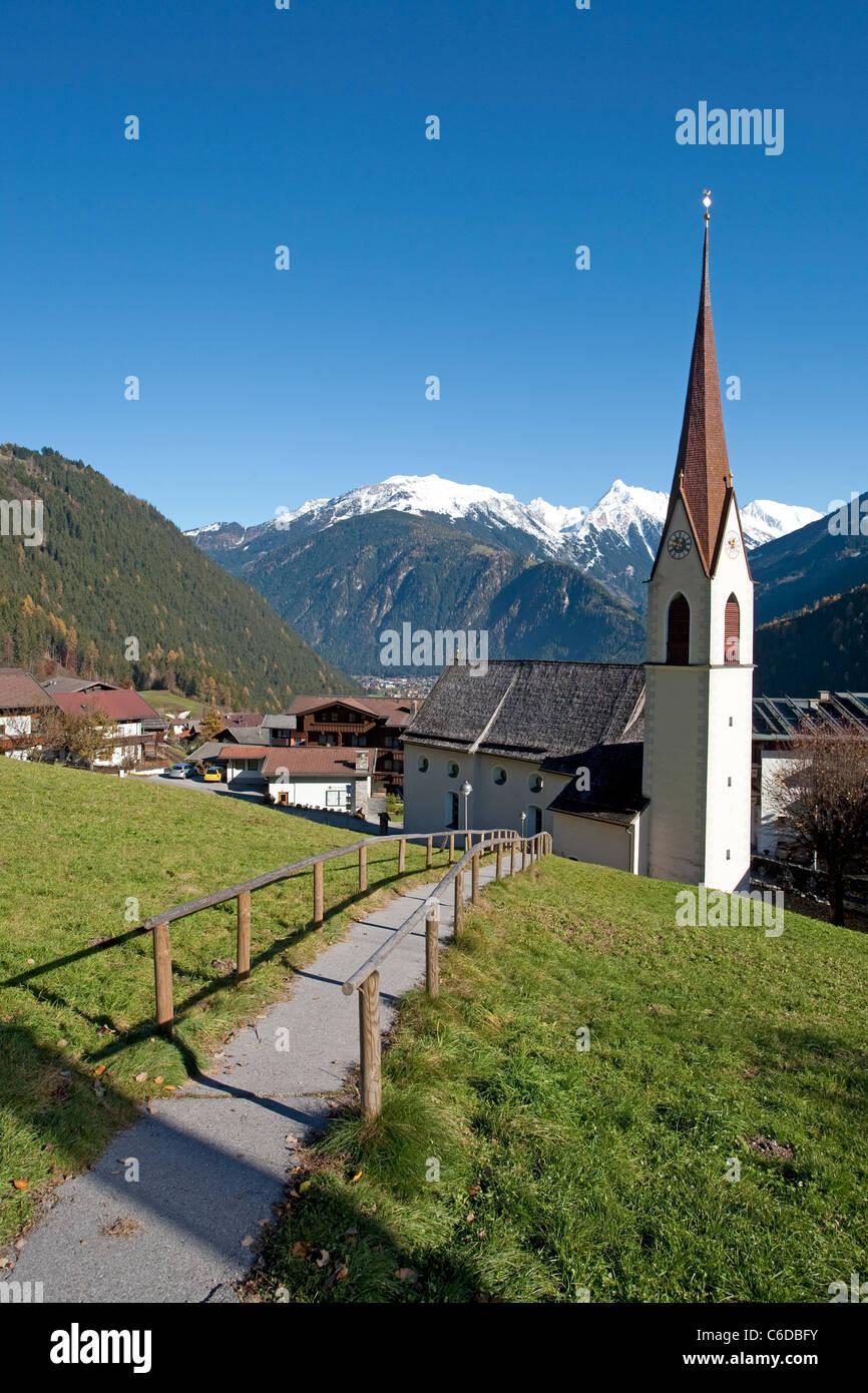Kirche von Finkenberg, Church of Finkenberg - Stock Image
