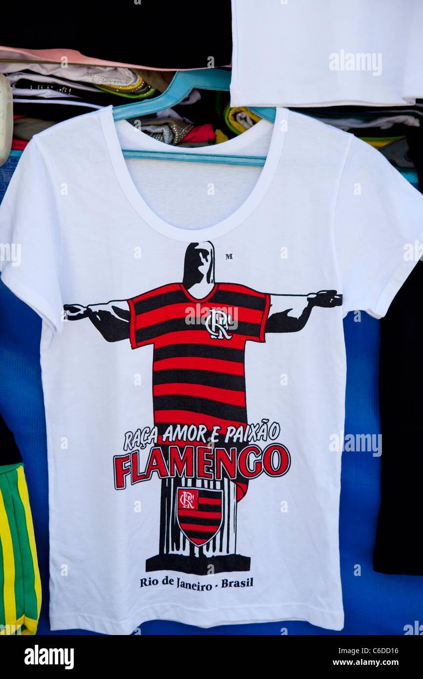 Souvenir Tee shirt; Rio De Janeiro, Brazil - Stock Image