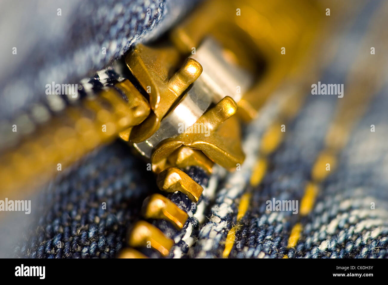 Zipper jeans - Stock Image