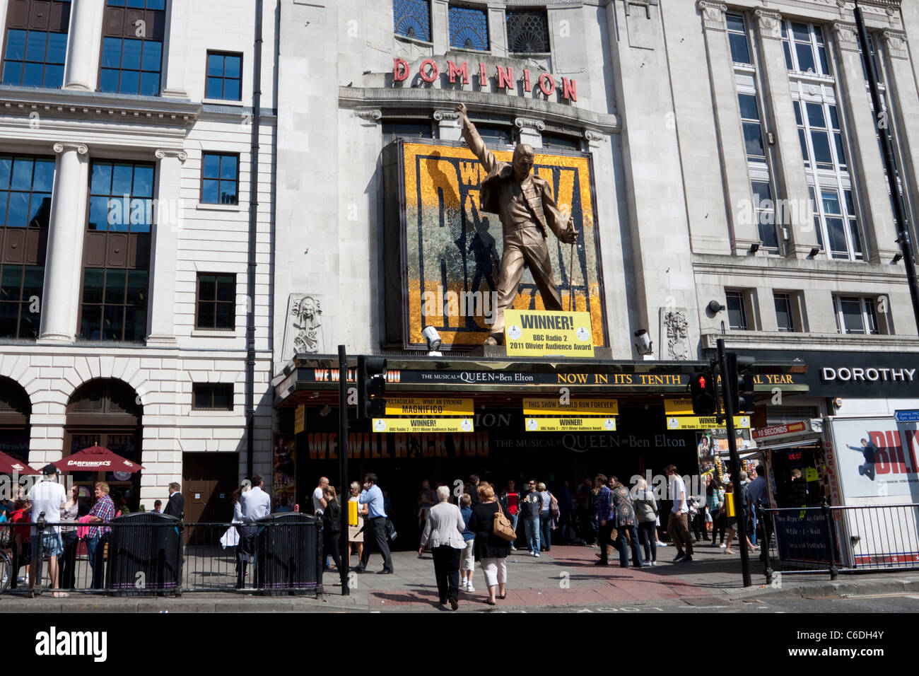 Dominion Theatre, home of We Will Rock You, Tottenham Court Road, London, England, UK - Stock Image