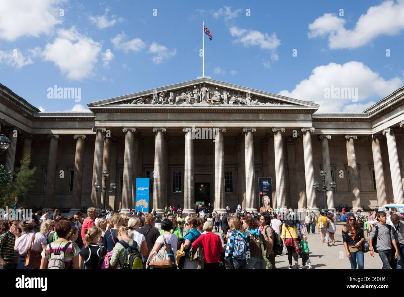 The British Museum, Great Russell Street, London, England, UK - Stock Image