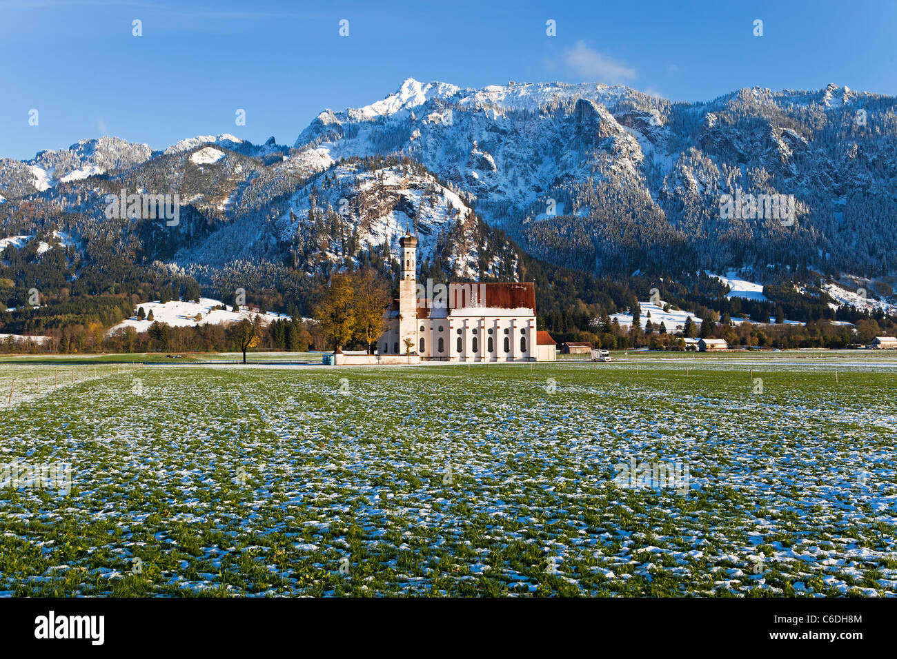 Germany, Bavaria, Oberbayern, St Coloman Church - Stock Image