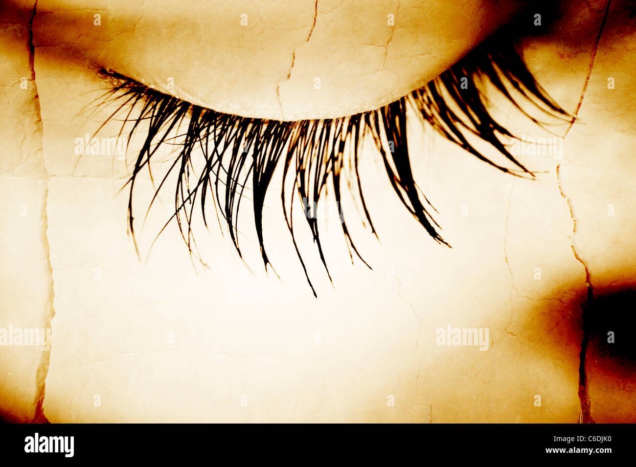 495dc9f684b Beautiful Woman Big Eyelashes Face Art Stock Photos & Beautiful ...