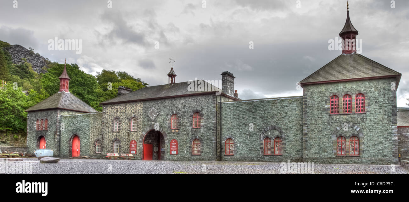 Welsh National Slate Museum, at Llanberis in Snowdonia national park, Wales. - Stock Image
