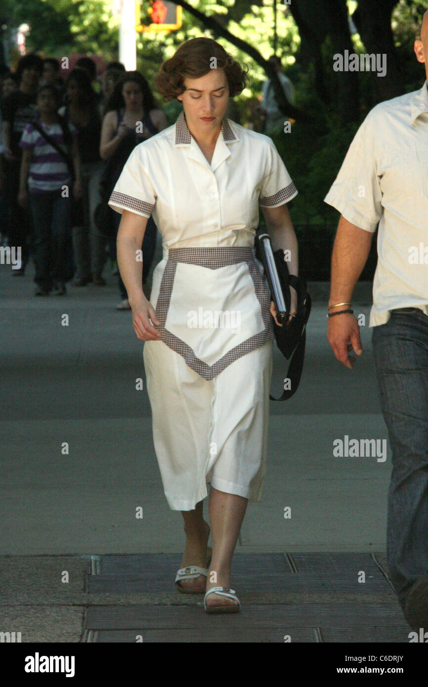 Kate Winslet on the movie set of 'Mildred Pierce' New York City, USA - 05.05.10 Anthony Dixon - Stock Image