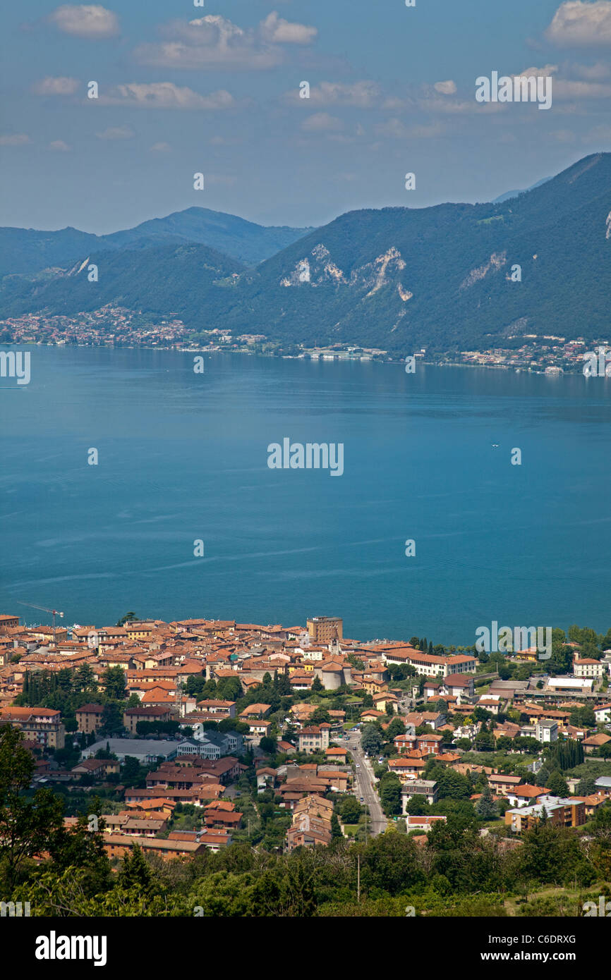 Lake Iseo, Italy - Stock Image