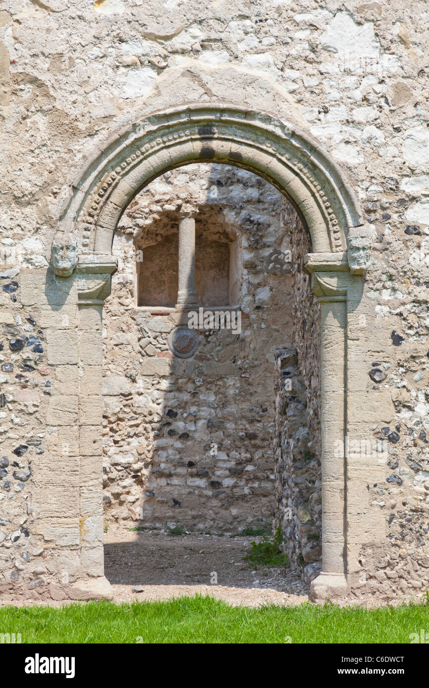 Our Lady of Thetford Cluniac medieval Priory ruins, Norfolk, UK, - Stock Image