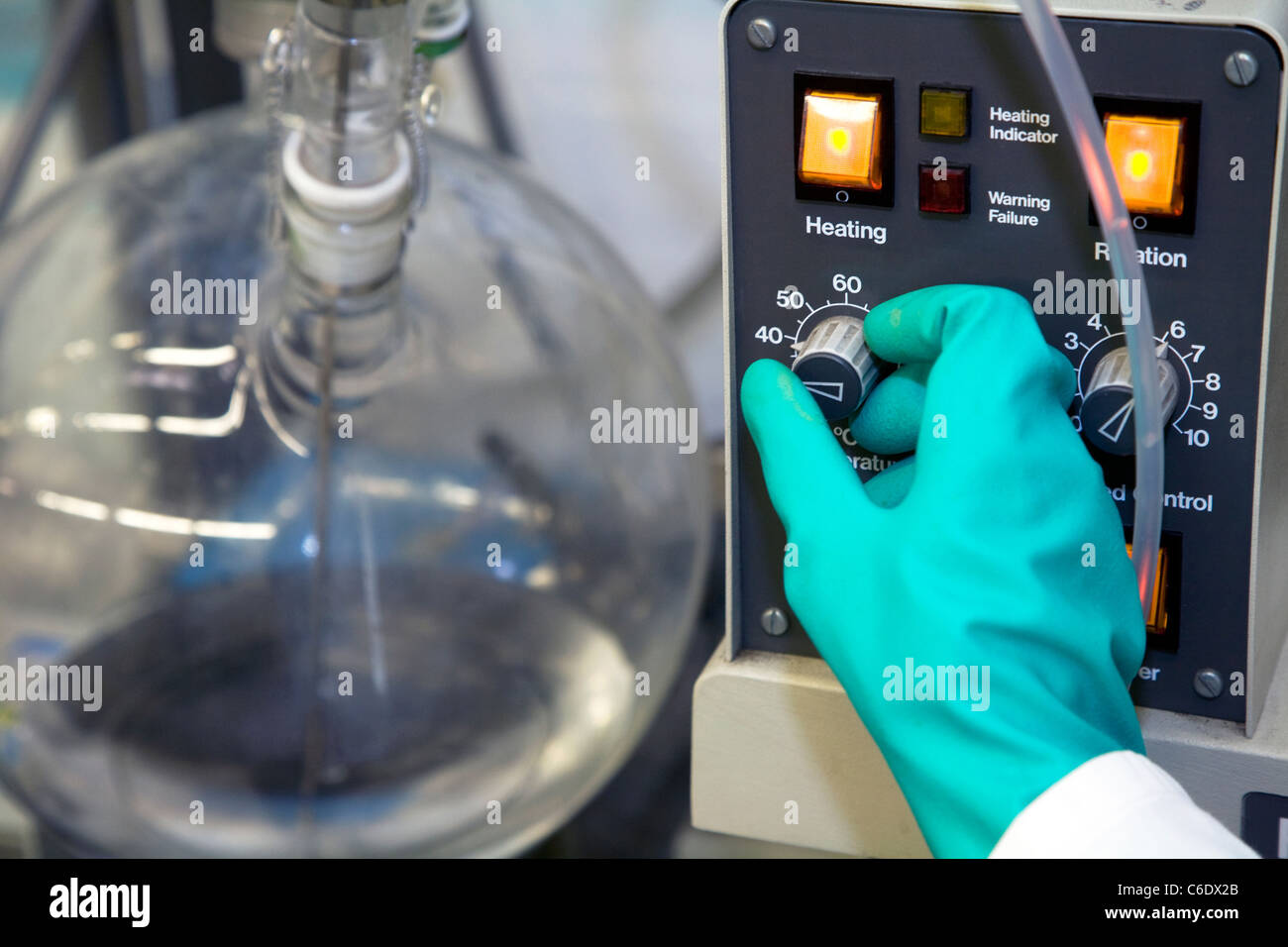 Chemistry lab assistant, Muelheim an der Ruhr, Germany Stock Photo
