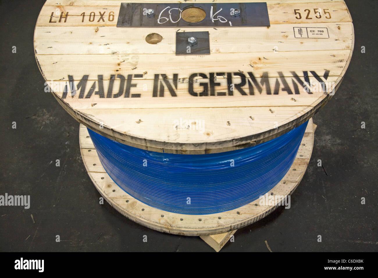 Pfeifer Drako wire rope factory, Muelheim an der Ruhr, Germany - Stock Image
