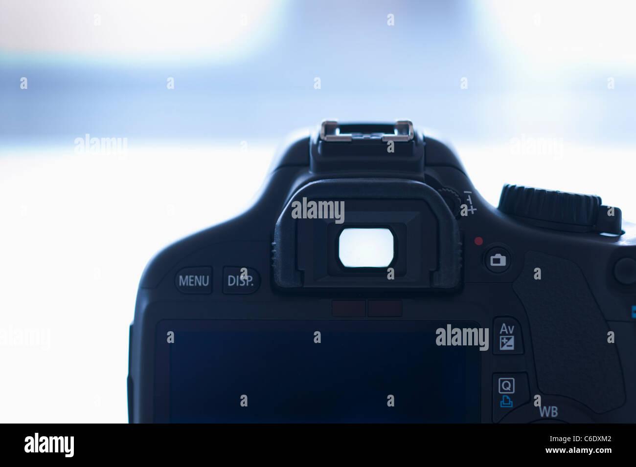 Viewfinder of digital SLR camera - Stock Image