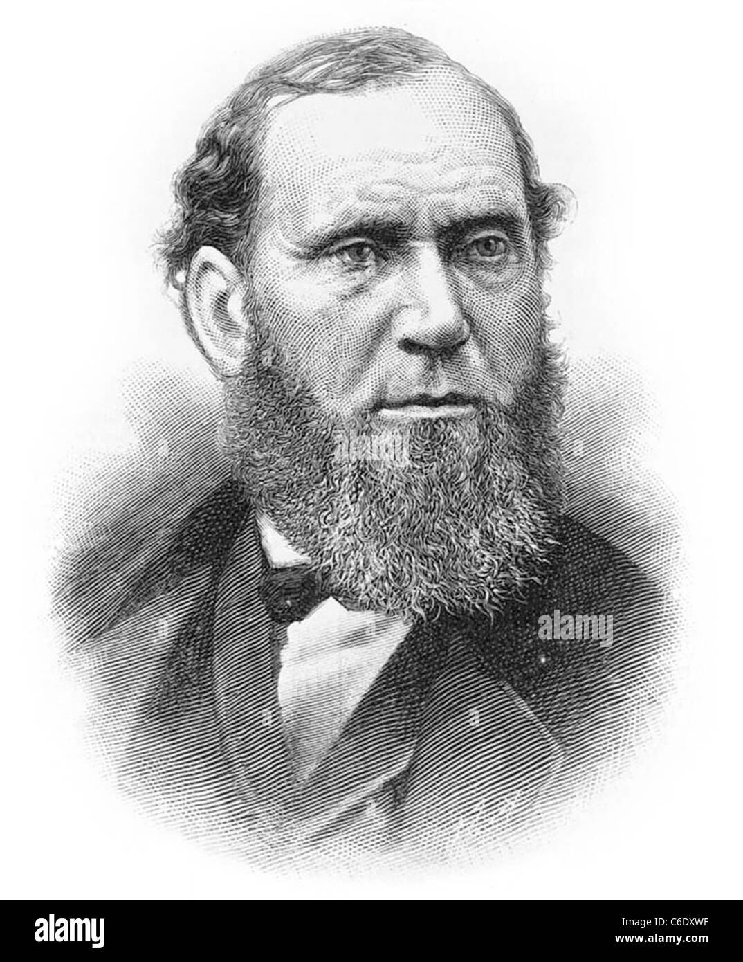 ALLAN PINKERTON (1819-1884)  Scottish-American detective and spy who founded the Pinkerton National Detective Agency - Stock Image