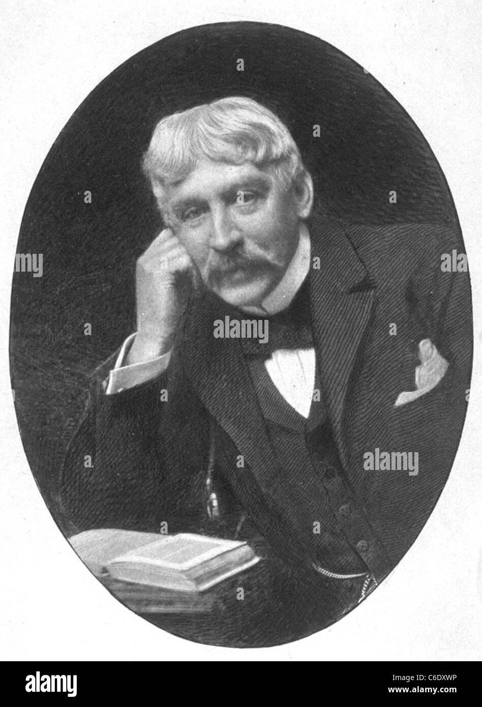 BRET HARTE (1836-1902) US author and poet - Stock Image