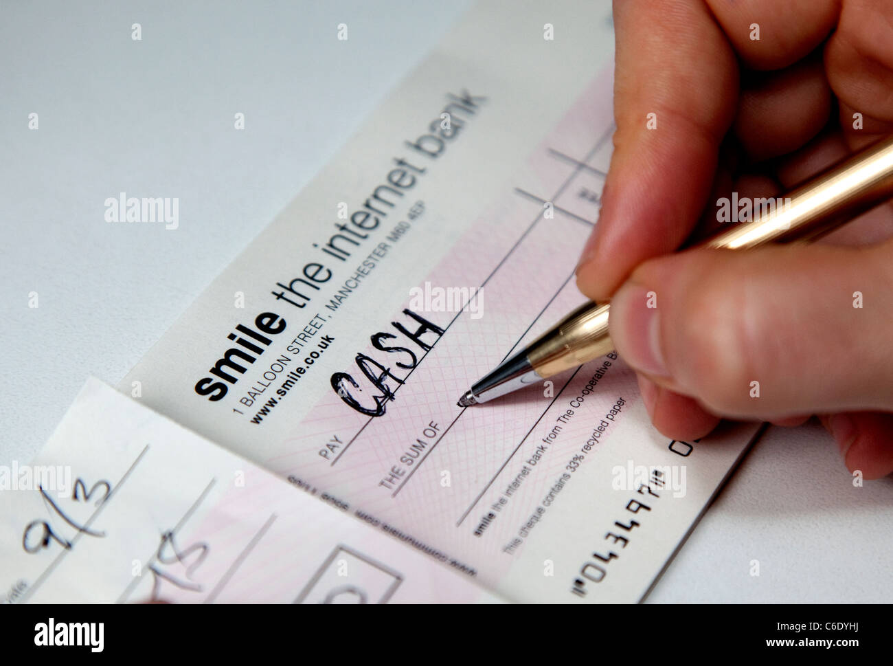 Cash Cheque Stock Photos & Cash Cheque Stock Images - Alamy
