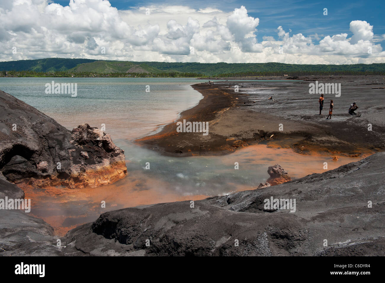 Hot Springs near the base of Tavurvur Volcano in the Rabaul Caldera