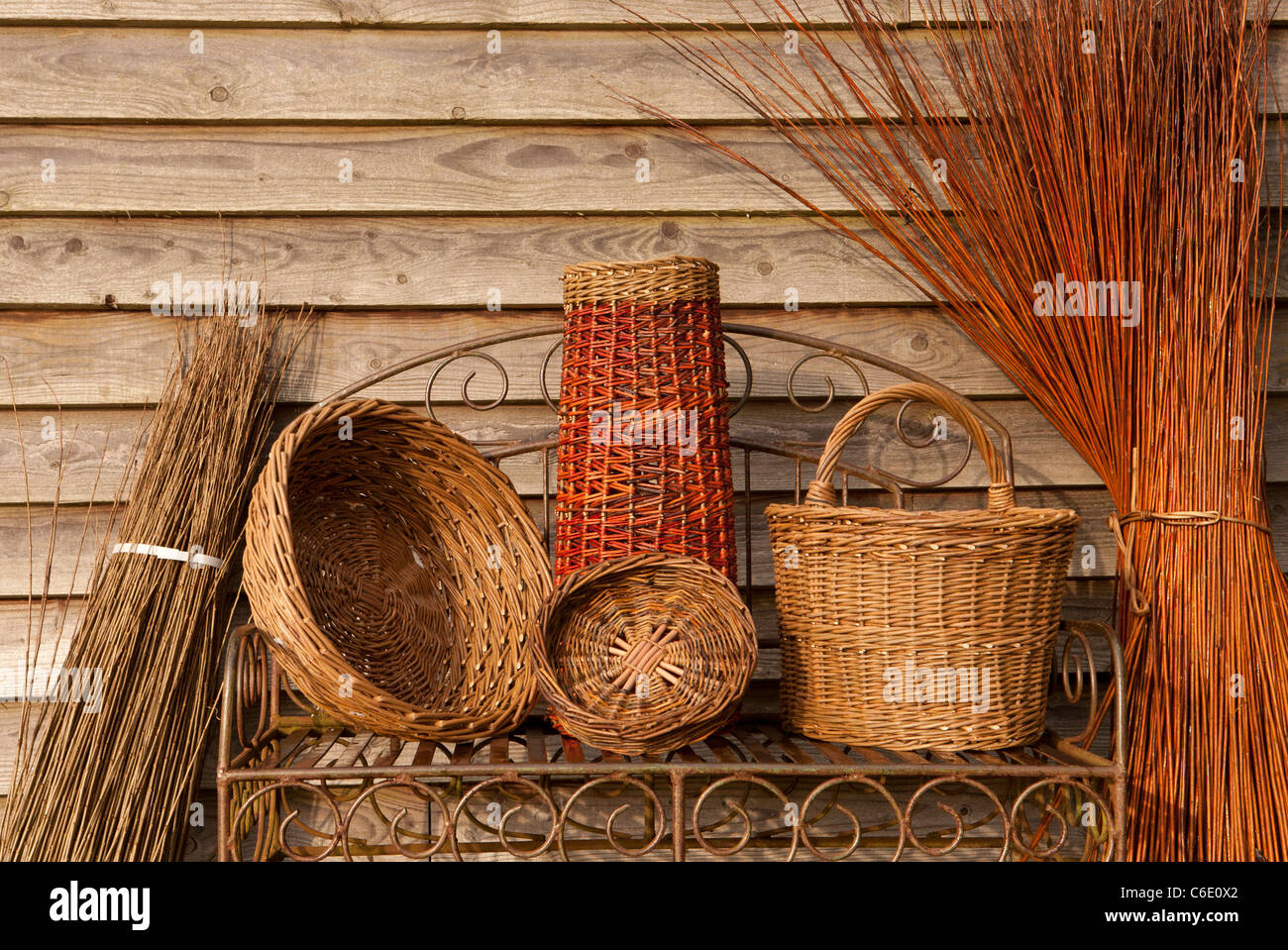 Willow Baskets Stock Photos & Willow Baskets Stock Images - Alamy