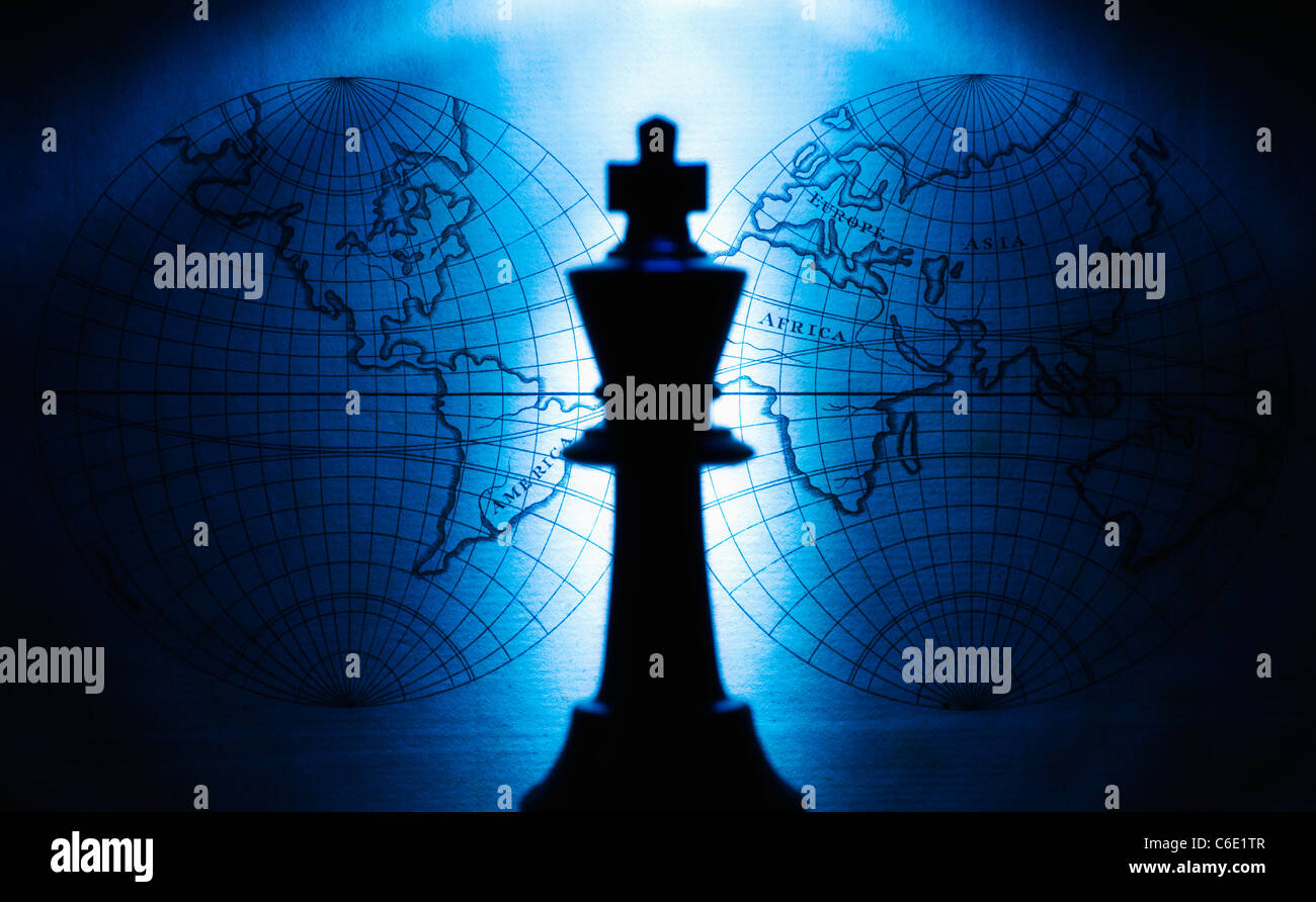 King chess piece - Stock Image