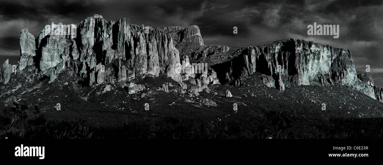 Superstition Mountains - Stock Image