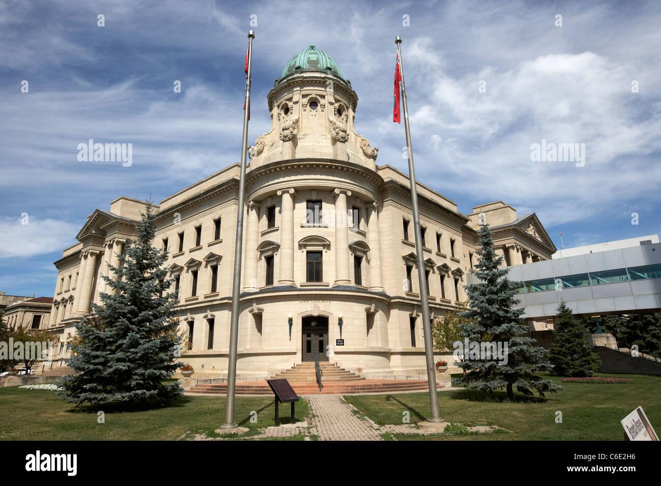 historic landmark law courts building winnipeg manitoba canada - Stock Image