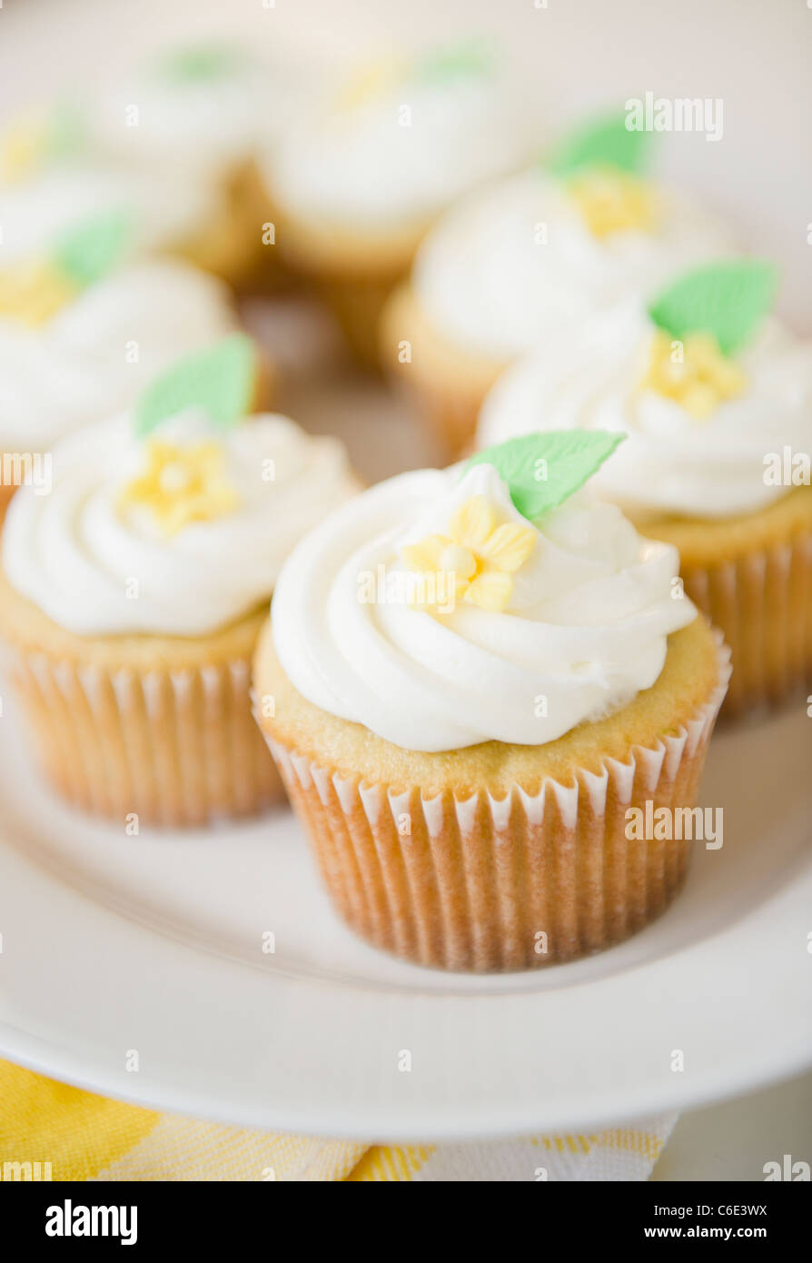 Usa New Jersey Jersey City Close Up Cupcakes Stock Photo