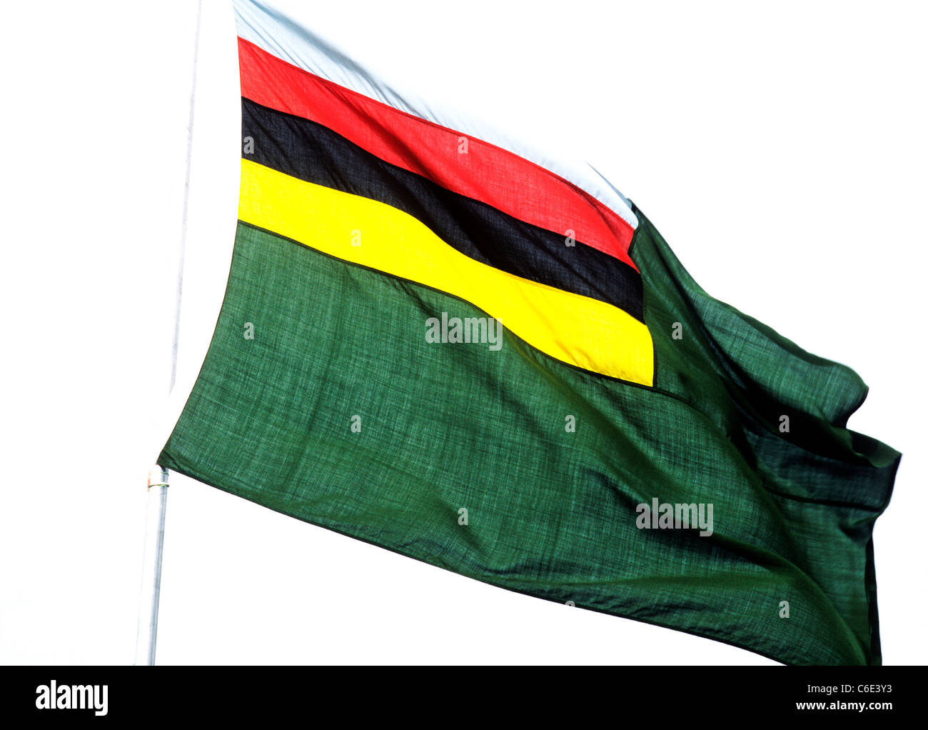 Croquet Association Flag, UK England English Britain British flying from flagpole flags sport sporting sports - Stock Image