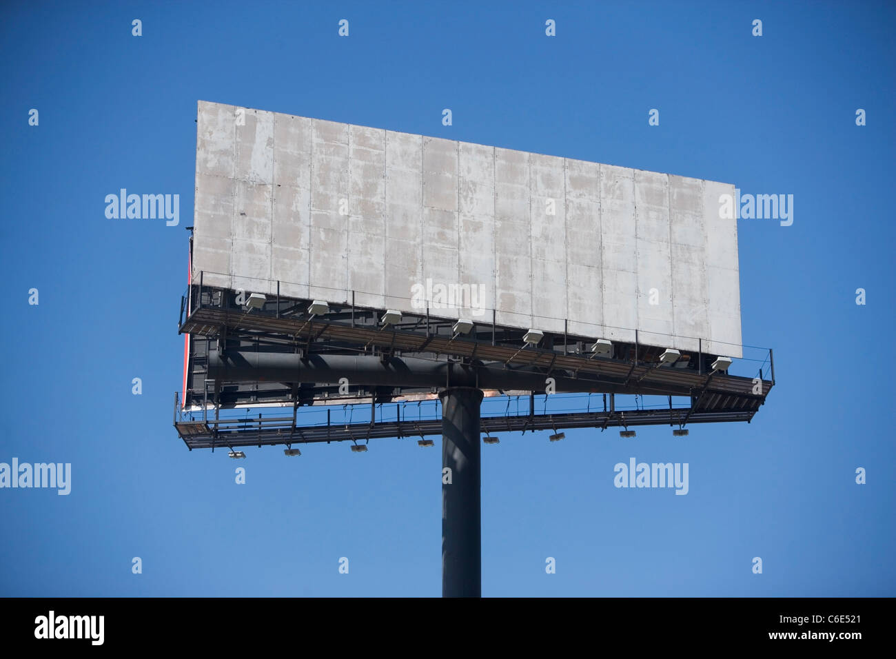 USA, New York State, New York City, empty billboard against clear sky - Stock Image