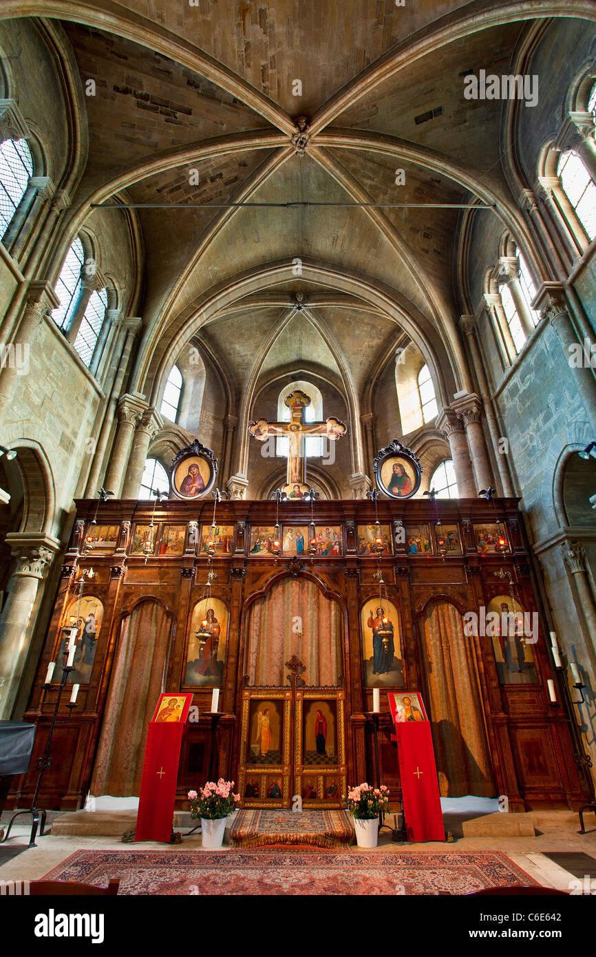 Europe, Paris (75), Saint Julien le Pauvre Church - Stock Image