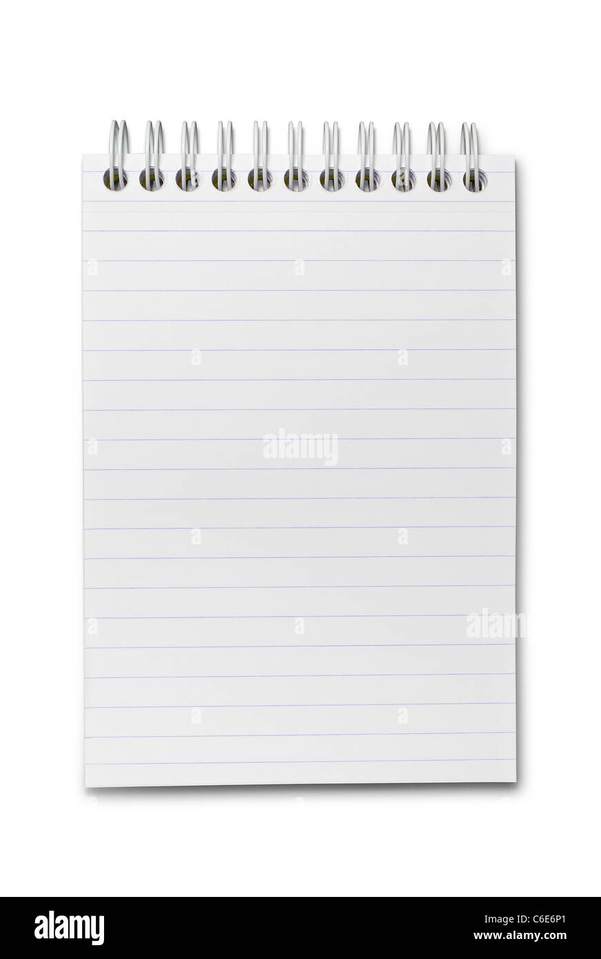 Notebook with Clipping Path - Stock Image