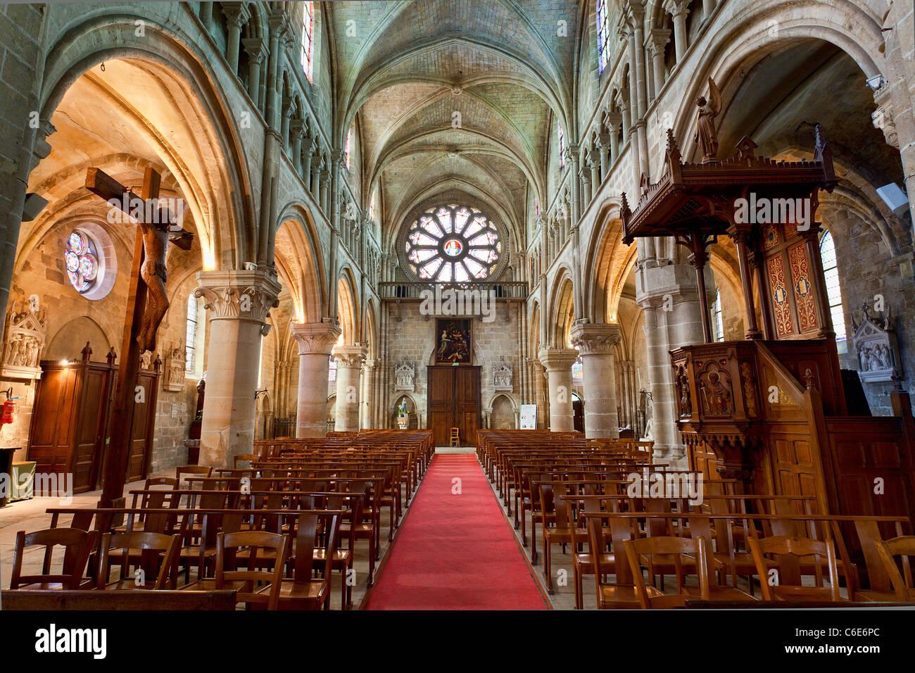 Europe, France, Val-d'oise (95), Auvers-sur-Oise Church - Stock Image