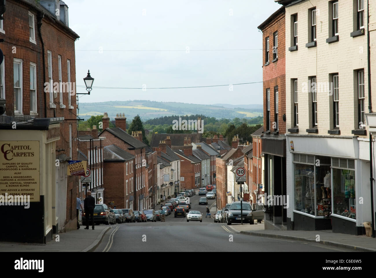 The Feathers Hotel, Ludlow, Shropshire, GB. - Stock Image