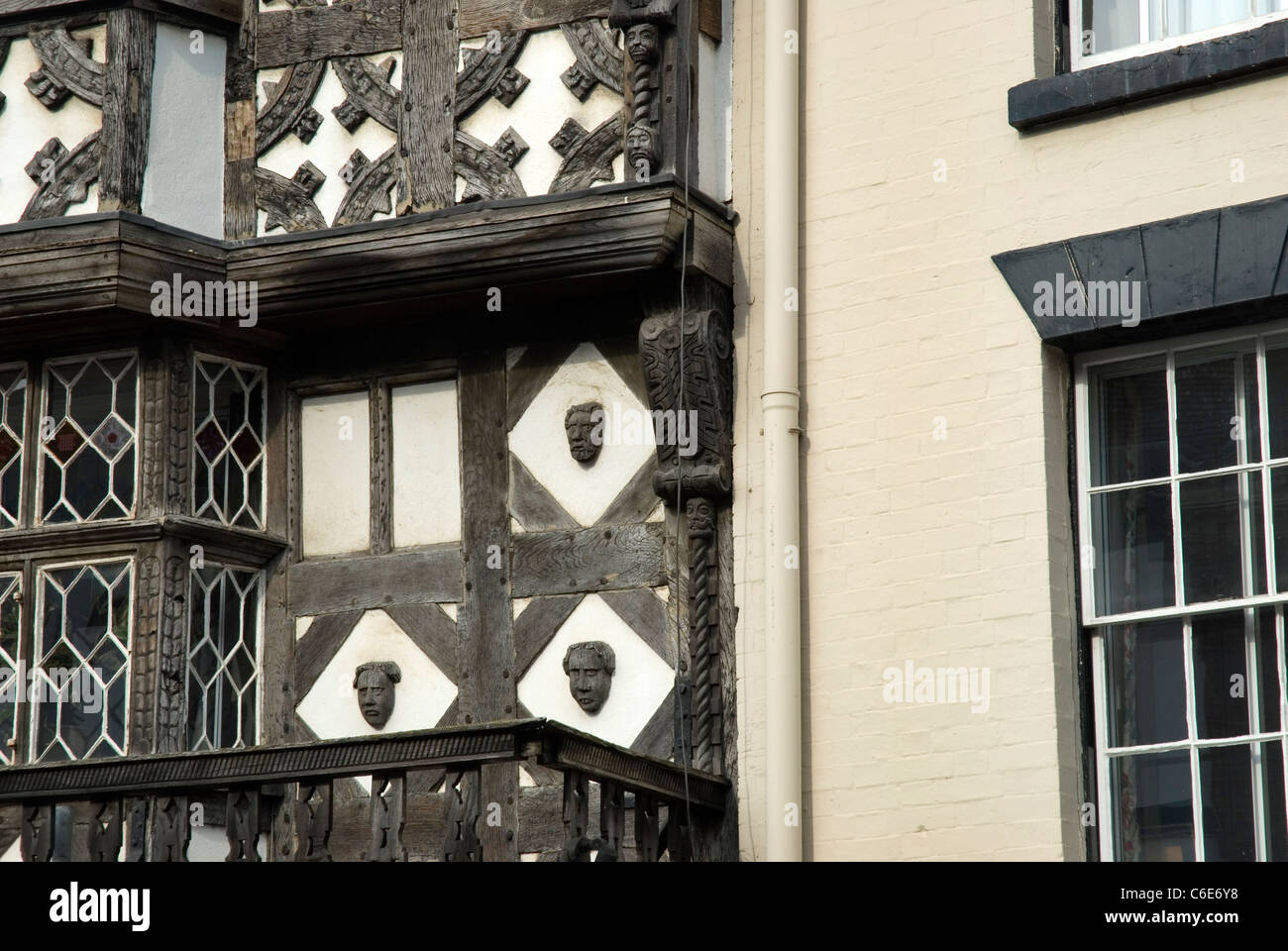 The Feathers Hotel, Ludlow, Shropshire, GB. Stock Photo