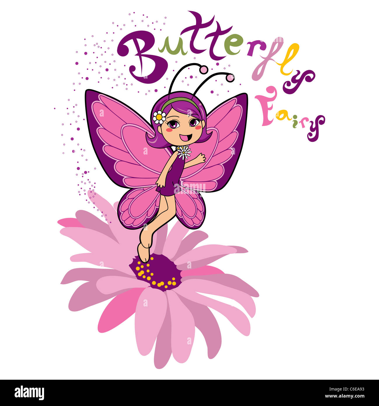Fairy Wings Pink Flower Stock Photos Fairy Wings Pink Flower Stock