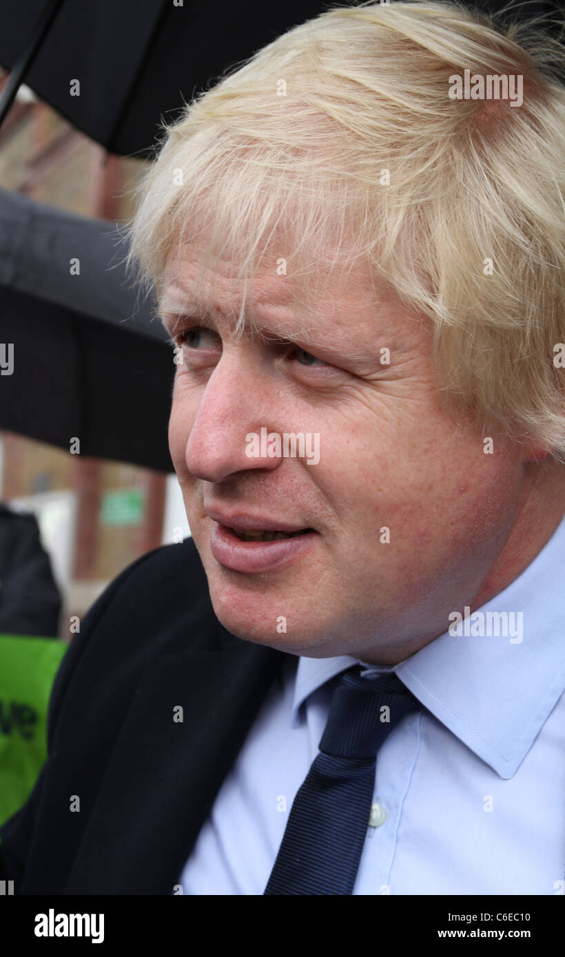 London Mayor Boris Johnson campaigning for re-election in the capital. England, UK - Stock Image