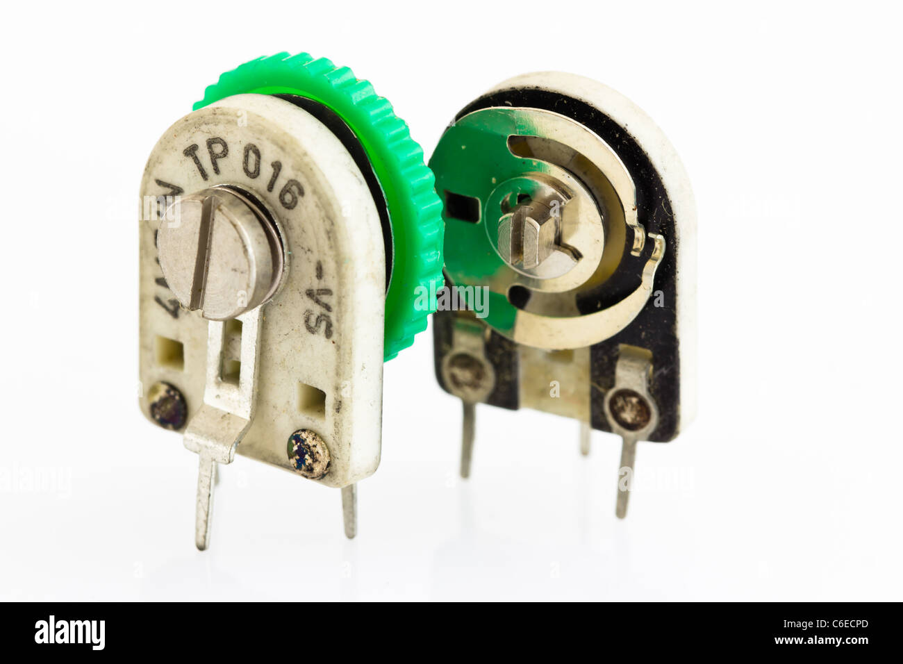 Variable Resistor Stock Photos Images Alamy Circuit Two Precision Resistors On Ceramic Substrate To The With A Plastic Nozzle For