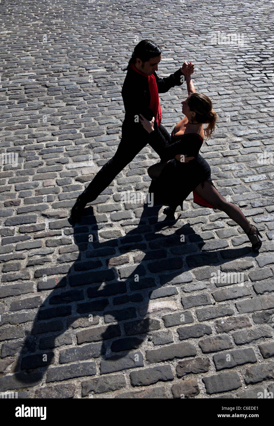 Argentinian Tango Dancers male and female couple Stock Photo