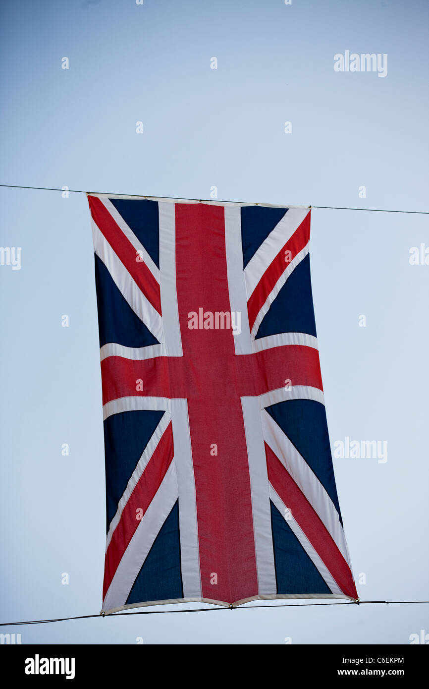 Close-up of a Union Jack flag - Stock Image