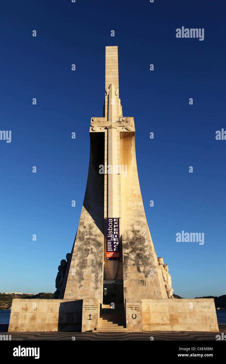 The Monument to the Discoveries (Padrao dos Descobrimentos) in Belem, Lisbon, Portugal. - Stock Image