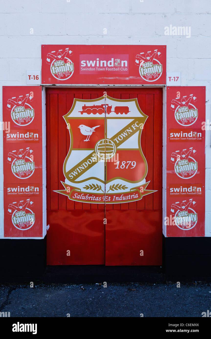 Family entrance door to Swindon Town Football Clubs stadium Stock Photo